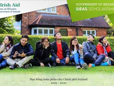 TB - chương trình học bổng IDEAS - chính phủ Ireland 2019-2020